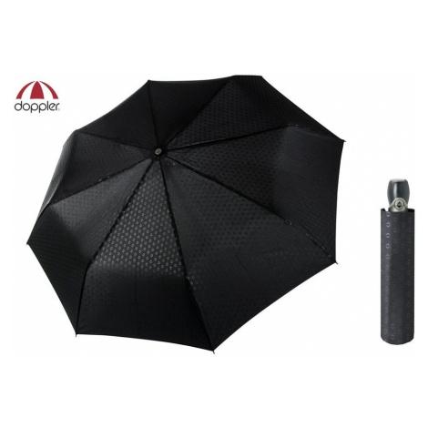 Luxusný čierny vzorovaný dáždnik pre pánov Doppler FIBER MAGIC PREMIUM