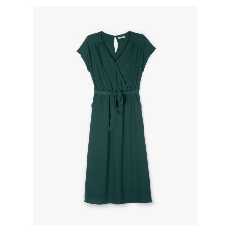 GATE Jednofarebné šaty midi
