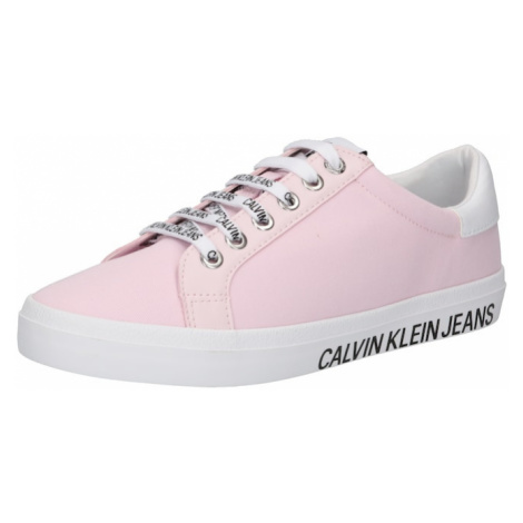 Calvin Klein Jeans Nízke tenisky  ružová / biela / čierna