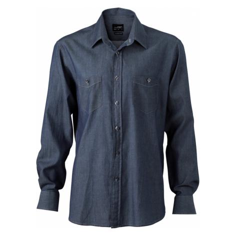 James & Nicholson Pánska džínsová košeľa JN629