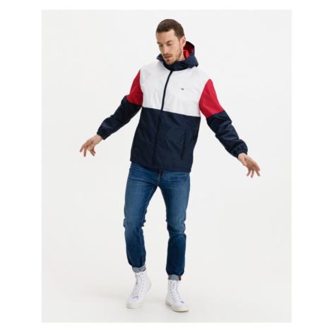 Tommy Jeans Colorblock Windbreaker Bunda Modrá Červená Biela Tommy Hilfiger