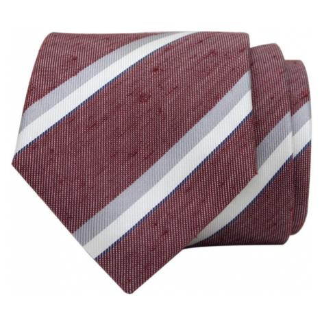 John & Paul Vínová hodvábna kravata s farebnými prúžkami John & Paul
