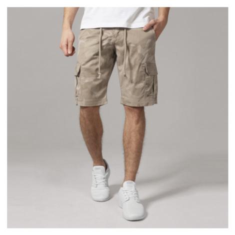 Urban Classics Camo Cargo Shorts sand camo - Veľkosť:36