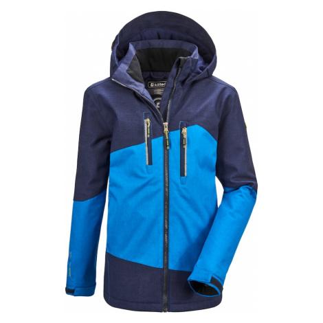 KILLTEC Outdoorová bunda 'Lynge'  tmavomodrá / nebesky modrá