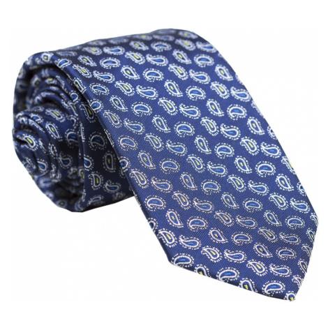 Pánska vzorovaná kravata Microbe navy