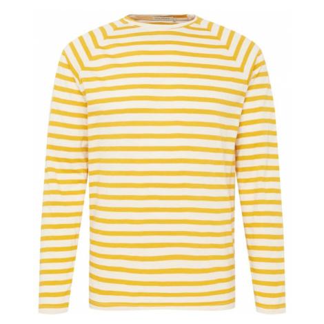 Nudie Jeans Co Tričko 'Otto Breton'  žltá / biela