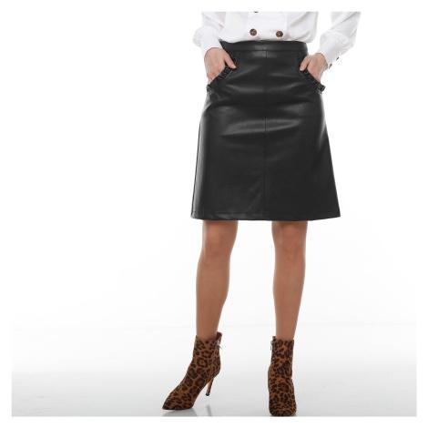 Blancheporte Koženková sukňa (1) čierna