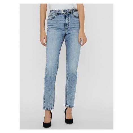 Modré džínsy s opaskom VERO MODA Joana