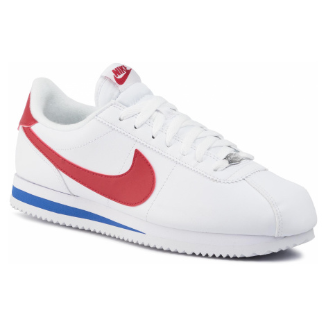 Topánky NIKE - Cortez Basic Leather 819719 103 White/Varsity Red