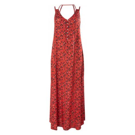 O'Neill LW BELINDA AOP LONG DRESS červená - Dámske šaty