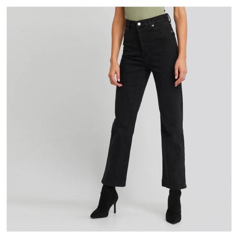 Čierne džínsy s vysokým pásom NA-KD