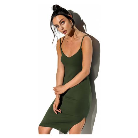 Zelené šaty na ramienka LN118 Lemoniade