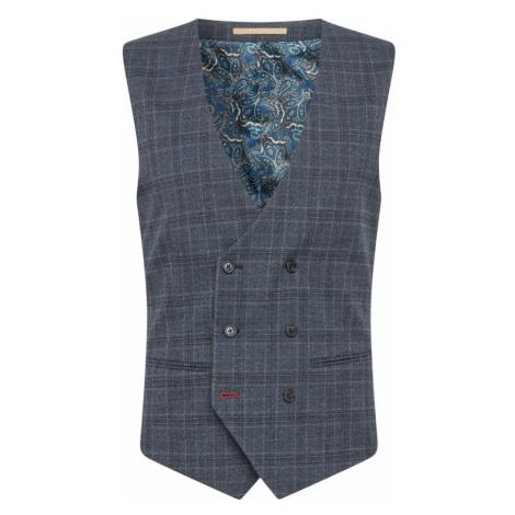 BURTON MENSWEAR LONDON Vesta k obleku  sivá / námornícka modrá
