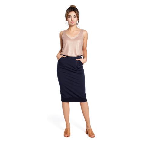 BeWear Woman's Skirt B031 Navy Blue