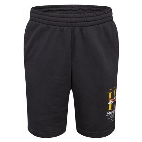 Reebok Classic Nohavice  žltá / biela / čierna