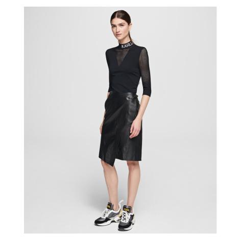 Sukňa Karl Lagerfeld Leather Wrap Skirt