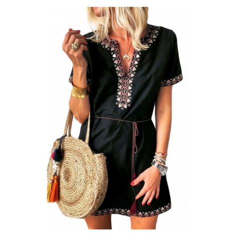 Dámske čierne letné šaty CLARINA