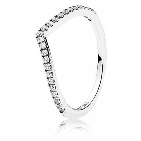 Pandora Trblietavý strieborný prsteň 196316CZ mm