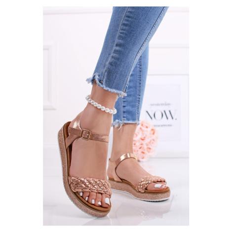 Ružovozlaté platformové sandále Nomira Bestelle