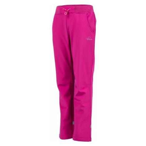 Lewro CARNO ružová - Detské softshellové nohavice