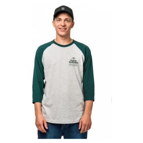 Horsefeathers CLAN LS T-SHIRT šedá - Pánske tričko