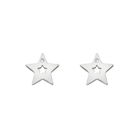 Hot Diamonds Strieborné hviezdičkové náušnice s pravými diamantmi Amulets DE587