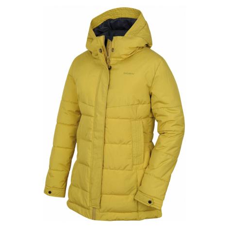 Husky Nilit žltozelená, Dámsky hardshell plnený kabátik