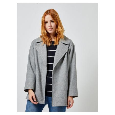 Sivý krátky kabát Dorothy Perkins