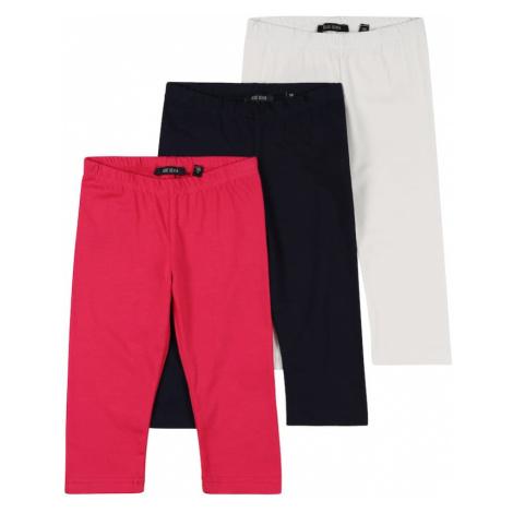 BLUE SEVEN Nohavice  biela / červená / ultramarínová