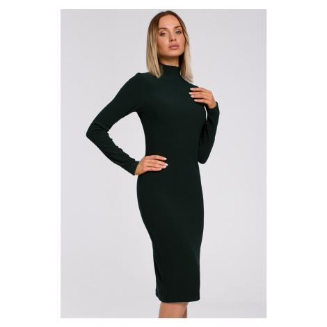 Tmavozelené šaty M542 Moe