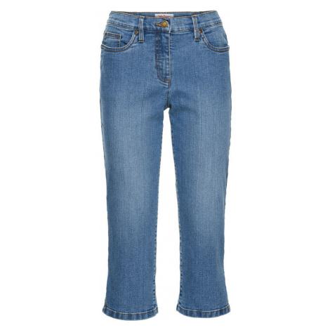 """Strečové capri džínsy, """"rovné"""", pohodlná šírka na stehnách bonprix"""
