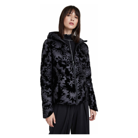Desigual čierna bunda Padded Velur