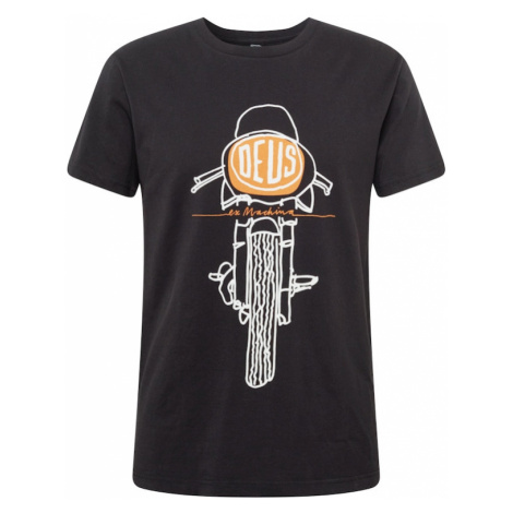 DEUS EX MACHINA Tričko 'Frontal Matchless'  čierna / biela / oranžová