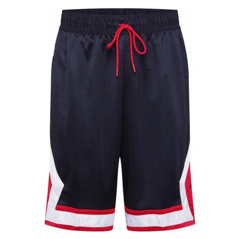 Jordan Športové nohavice  červená / čierna / biela