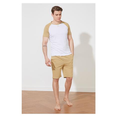 Trendyol Beige Knitted Pajamas Set