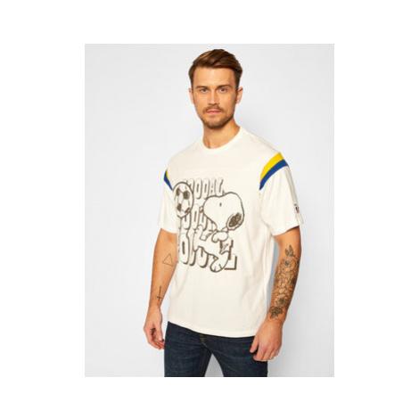Levi's® Tričko PEANUTS® Football Tee Gooaal Snoopy Marshmallow 23895-0003 Biela Regular Fit Levi´s