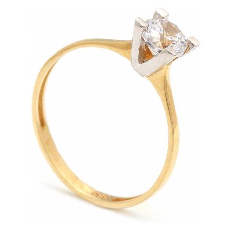 Zlatý zásnubný prsteň CONSUELA
