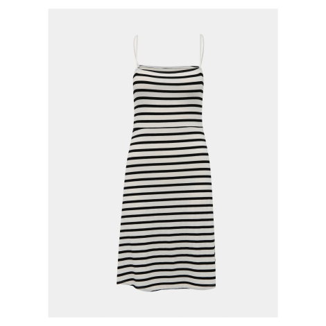Bielo-čierne pruhované šaty Noisy May Summer