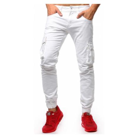 Pánske moderné biele joggery ux1265