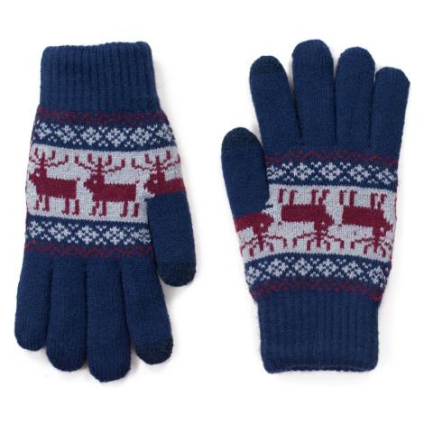 Art Of Polo Unisex's Gloves rk18566 Navy Blue