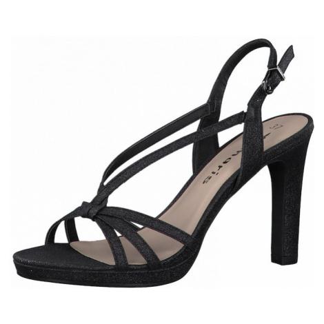 TAMARIS Remienkové sandále  čierna