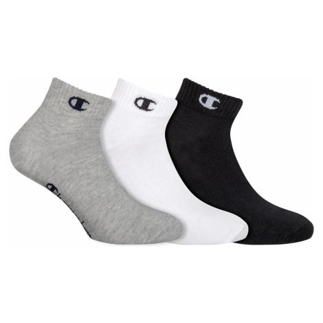 CHAMPION ANKLE SOCKS LEGACY 3x - Športové členkové ponožky 3 páry - čierna - biela - šedá