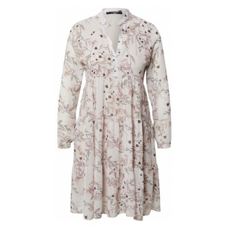 ZABAIONE Košeľové šaty 'Clara'  krémová / čierna / biela / telová / tmavobéžová
