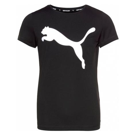 PUMA Funkčné tričko 'Active'  čierna / biela