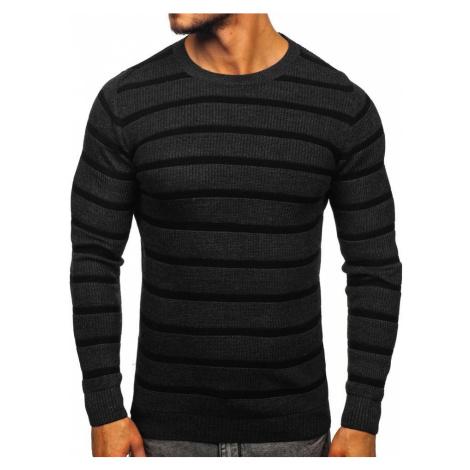 Grafitový pánsky sveter Bolf 4356 MADMEXT