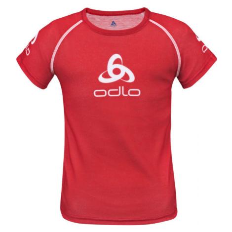 Odlo SUW KID'S TOP CREW NECK S/S ORIGINALS LIGHT červená - Detské tričko