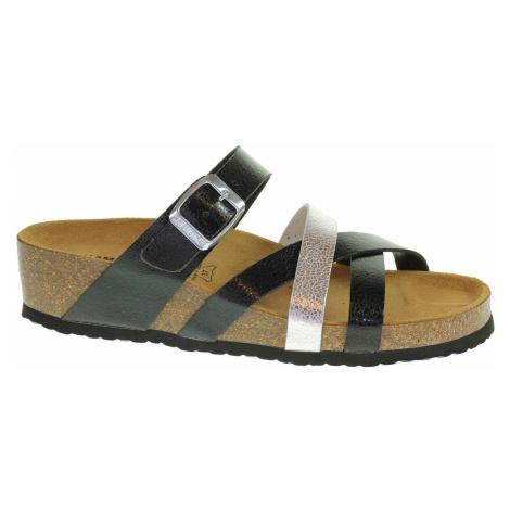 Dámské pantofle Salamander 32-13106-40 anthrazit-silver 32-13106-40