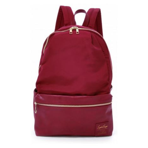 Bordový ruksak Grosgrain-Like 10 Pockets Backpack