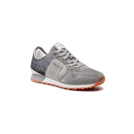 Pepe Jeans Sneakersy Verona W New PLS30717 Sivá
