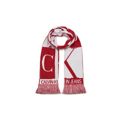 Calvin Klein Jeans Šál J Mirror Monogram Scarf K50K505330 Červená